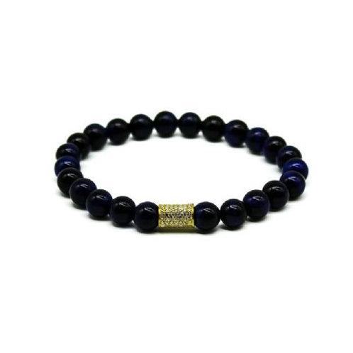 Gleam Lapis Gold Long Bracelet