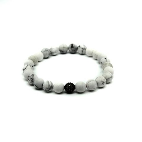 Gleam Howlite Zirconia Oxide Bracelet