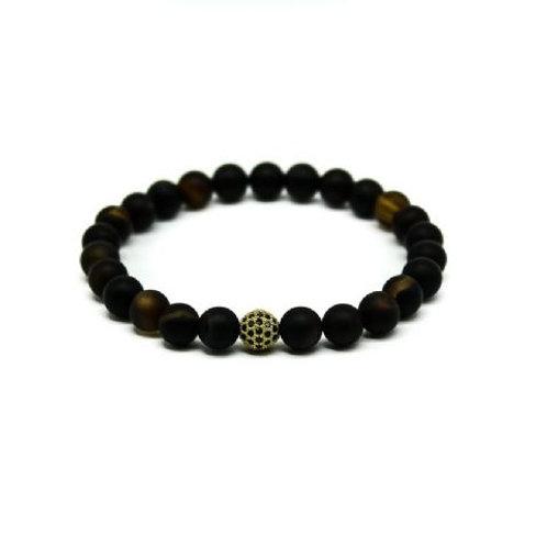 Gleam Black Agate Gold Durable Bracelet