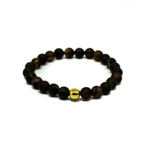 Gleam Black Agate Gold Drop Bracelet