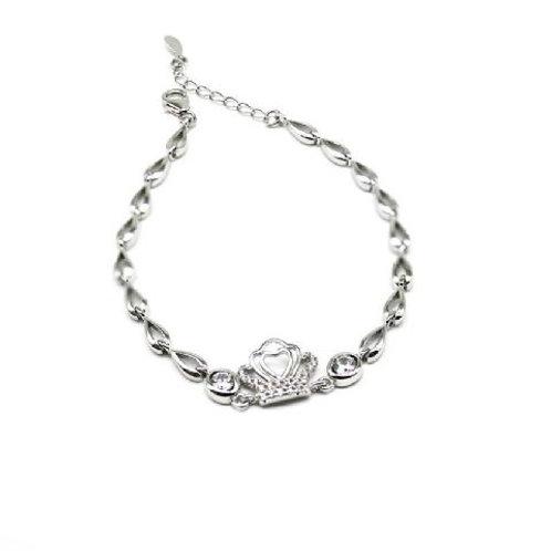 Gleam Silver Crown Heart