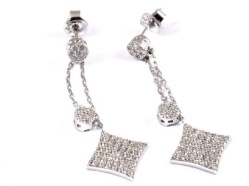 Gleam Lotstone Two Drop Square Earring
