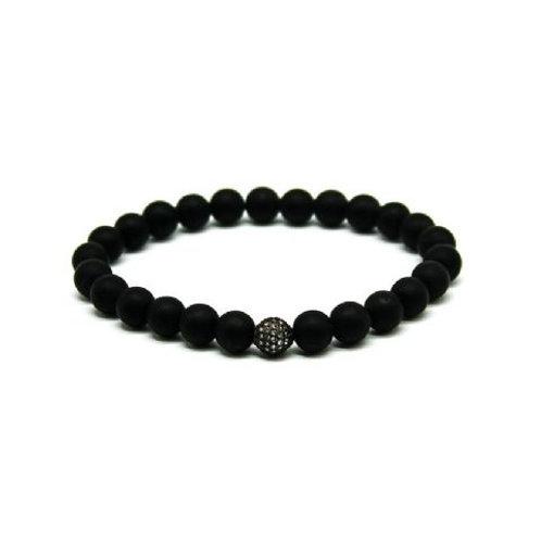 Gleam Mat Onyx Zirconia Oxide Bracelet
