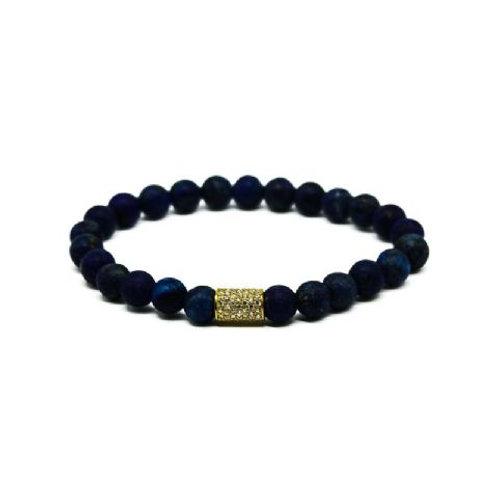 Gleam Mat Lapis Gold Long Bracelet