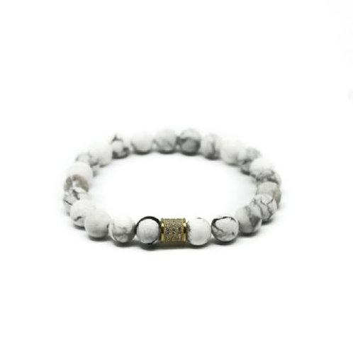 Gleam Howlite Gold Short Bracelet