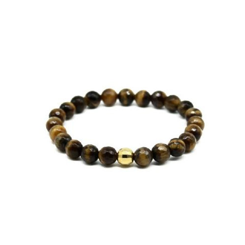 Gleam Tiger Eye Fst Gold Drop Bracelet