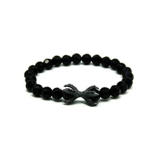 Gleam Onyx Zirconia Oxide Claw Bracelet
