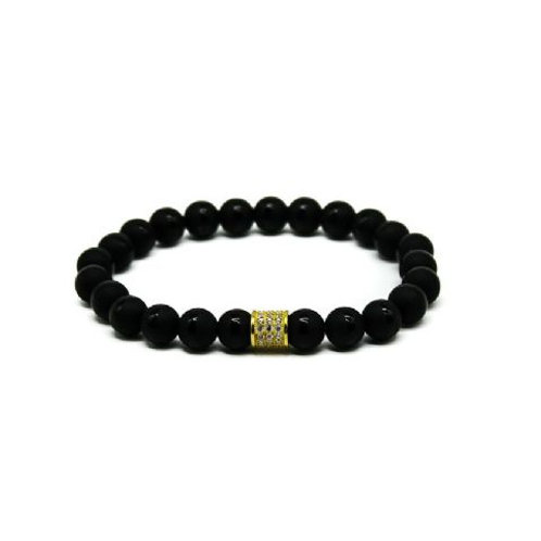 Gleam Mat Onyx Gold Short Bracelet