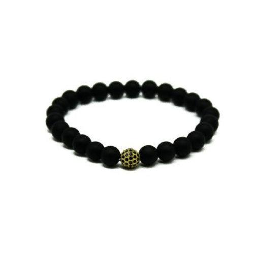 Gleam Mat Onyx Gold Durable Bracelet