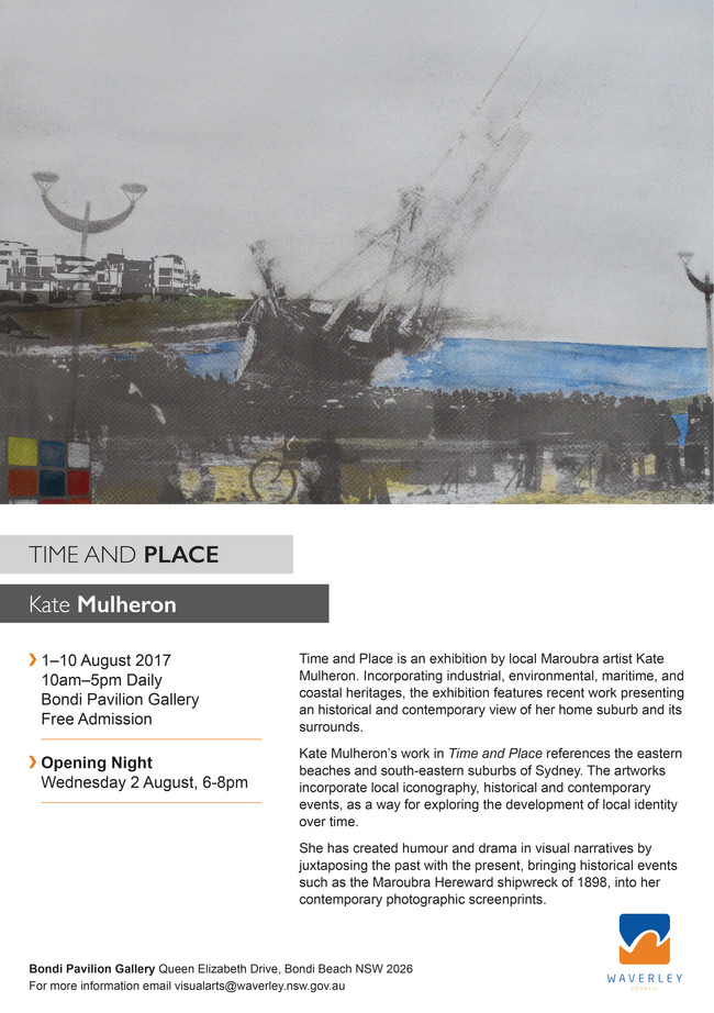 Time and Place- solo exhibition at Bondi Pavilion Gallery