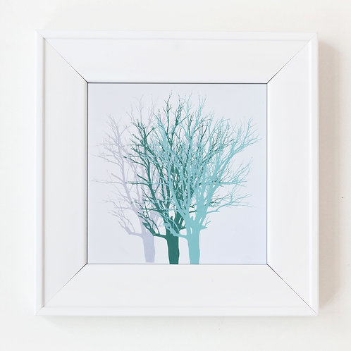 Forest Trees (silver, green, mint green)