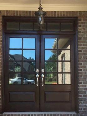 Creedmore Door After Refinishing