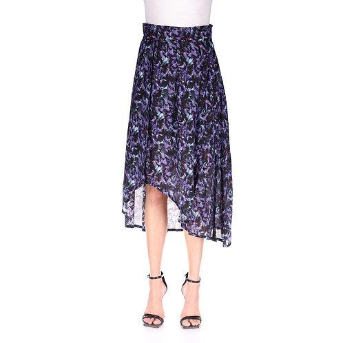 IRO. Andye Asymmetric Printed Midi Skirt