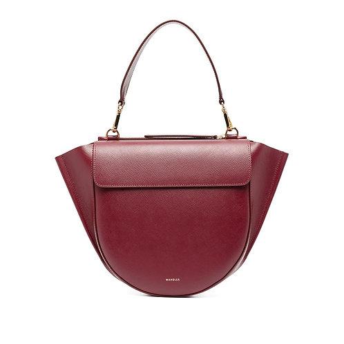 WANDLER. Hortensia Bag Medium. Cherry Caviar