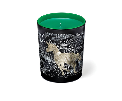 DIPTYQUE LIMITED EDITION. Forêt Givrée Scented Candle. Frosted Forest.