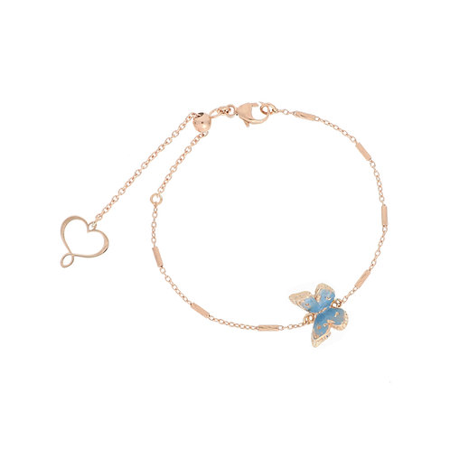 MAMAN ET SOPHIE FARFALLE. Light Blue Bracelet