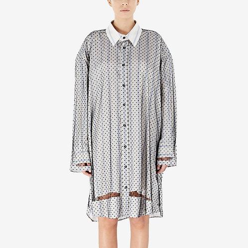 MAISON MARGIELA. Décortiqué Point d'Esprit Shirt Dress