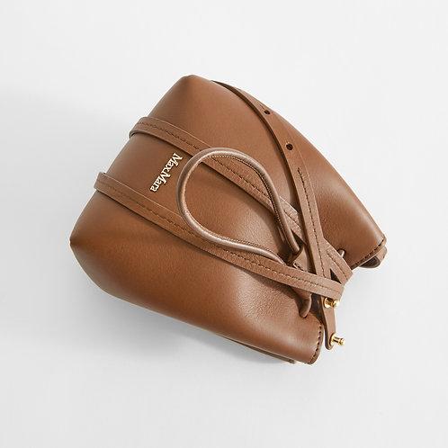 MAX MARA. Leather bucket bag