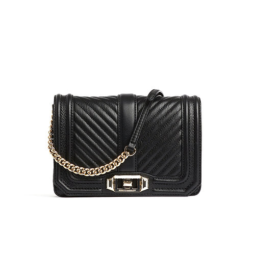 REBECCA MINKOFF. Chevron Quilted Small Love Crossbody.
