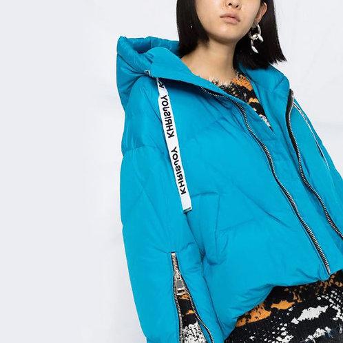 KHRISJOY. Light Blue Khris Puffer Jacket