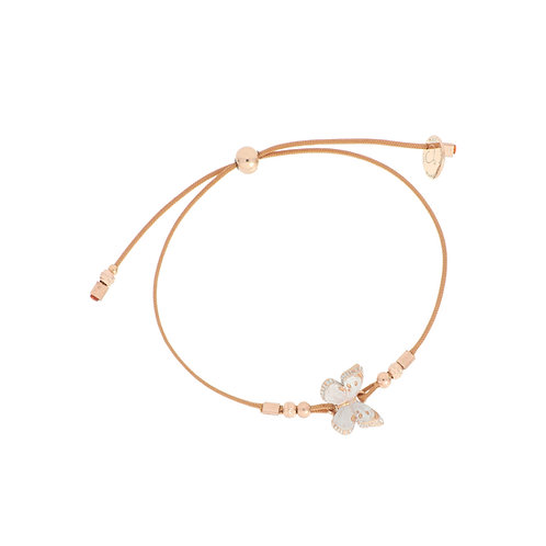 MAMAN ET SOPHIE FARFALLE. Thread bracelet with White Butterfly
