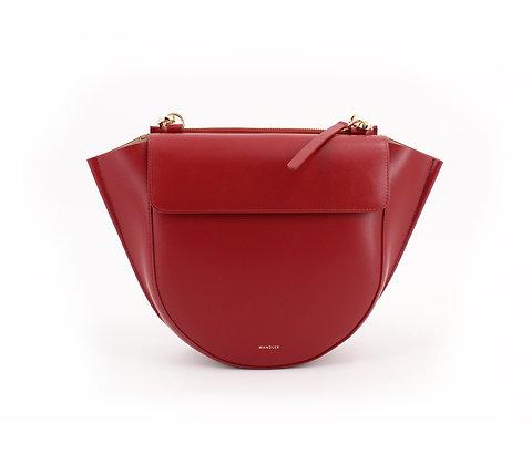 WANDLER. Hortensia Bag Medium Mahogany.