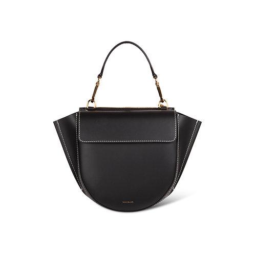 WANDLER. Hortensia Bag Mini Black / White Stitch