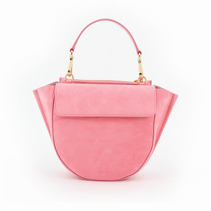 WANDLER. Pink Suede and Leather Hortensia Mini Shoulder Bag.