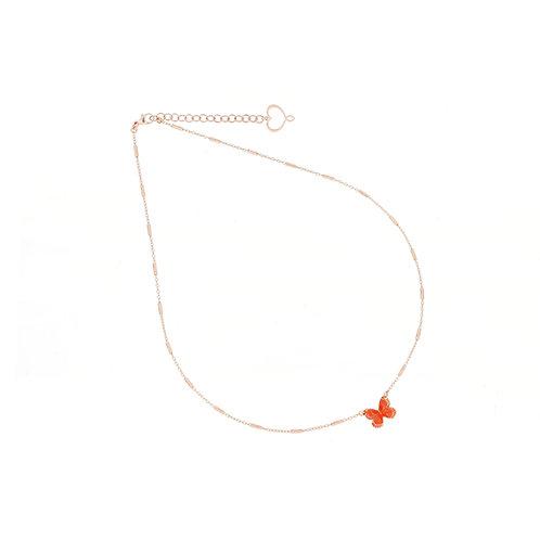 MAMAN ET SOPHIE FARFALLE. Orange Butterfly Necklace