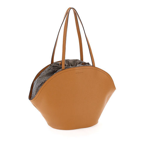 BORBONESE. Muffin Large. Leather Shopper