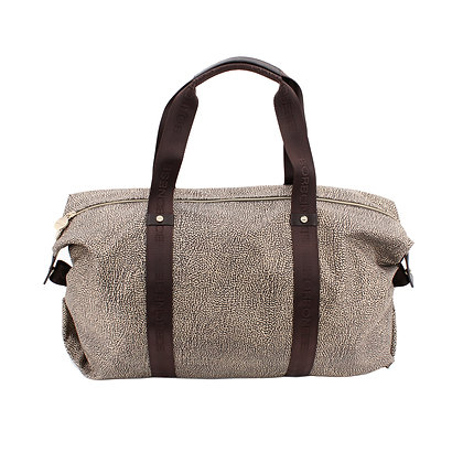 BORBONESE. Medium Duffle Bag OP Natural.
