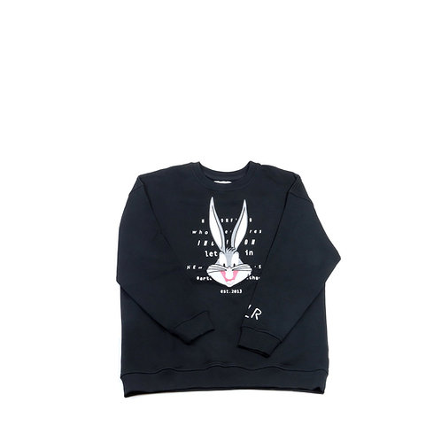 MOA APPAREL. Black Bugs Bunny Crewneck Sweatshirt
