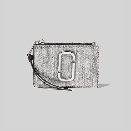 MARC JACOBS. The Snapshot Glitter Top Zip Multi Wallet