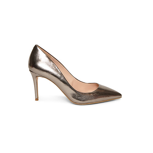 STEVE MADDEN. Lillie Pewter Pumps.