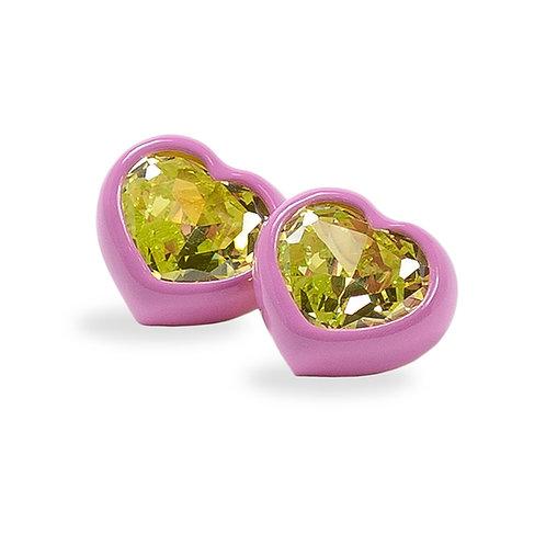 DANS LES RUES. Bonnie Pink and Green Earrings