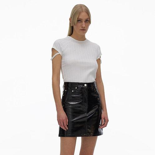 HELMUT LANG. 5-Pocket Leather Skirt