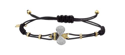 PIPPO PEREZ. Small Bee Bracelet with Diamonds, Black Diamonds, Yellow Sapphires