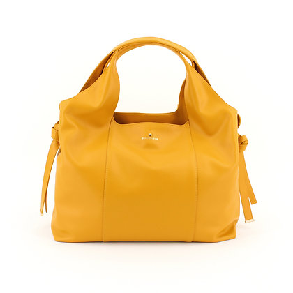 BORBONESE. Large Savile Bag in Leather.