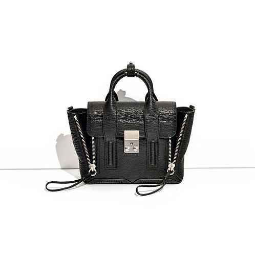 PHILLIP LIM. Pashli Mini Satchel Silver.