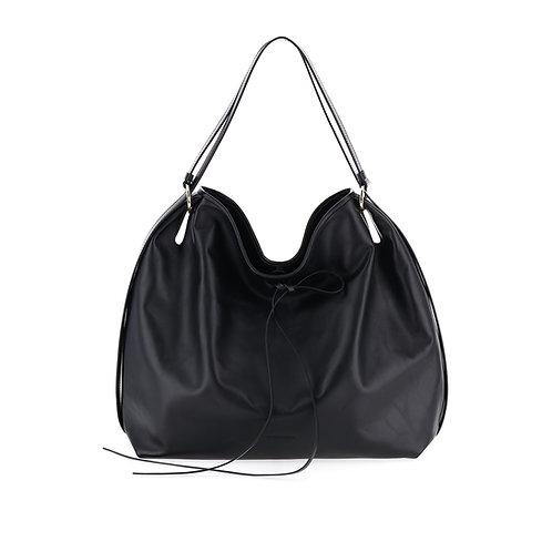 BORBONESE. Heritage Large Leather Hobo Bag