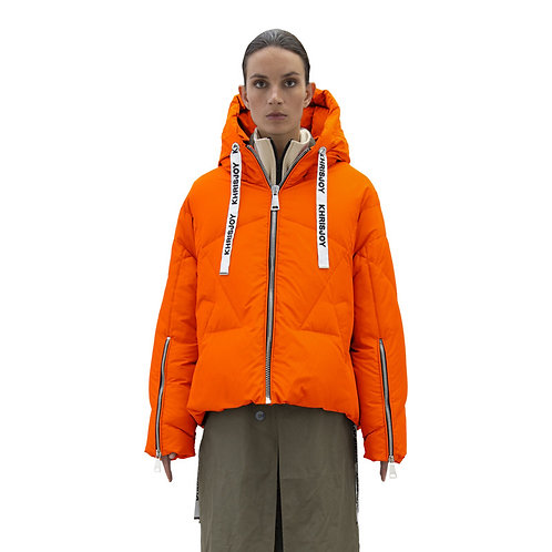KHRISJOY. Khris Iconic Bright Orange Puffer Jacket