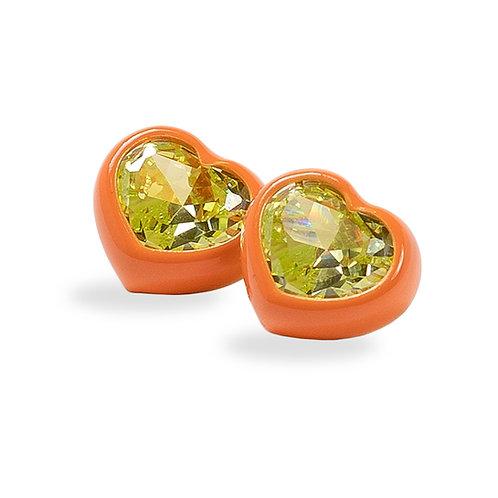 DANS LES RUES. Bonnie Orange and Green Earrings