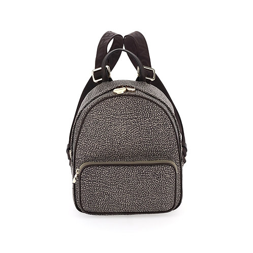BORBONESE. Portrait Small. Sustainable Selection. Recycled Nylon Backpack