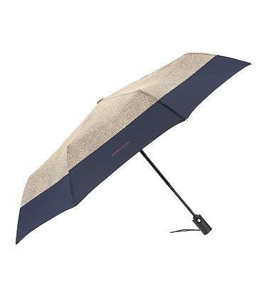 BORBONESE. Mini Umbrella with OP Print. Blue Juniper.