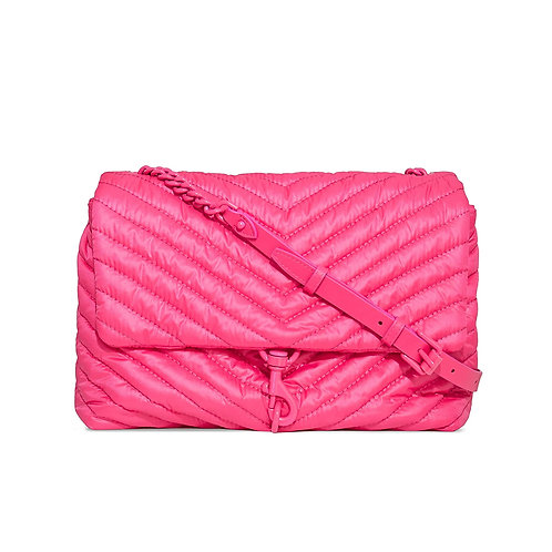 REBECCA MINKOFF. Pink Edie Nylon Crossbody