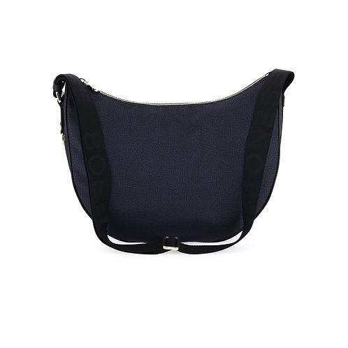 BORBONESE. Luna Bag Middle Nylon Jet OP
