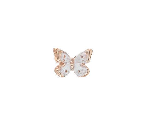 MAMAN ET SOPHIE FARFALLE. White Butterfly Lobe Earring