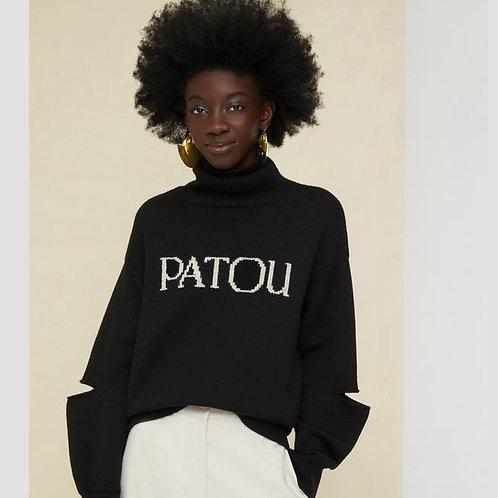 PATOU. Oversized Cut-Out Patou Jumper