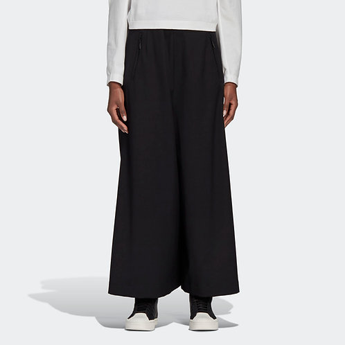 ADIDAS. Y-3 CLASSIC REFINED WOOL CROPPED WIDE LEG PANTS