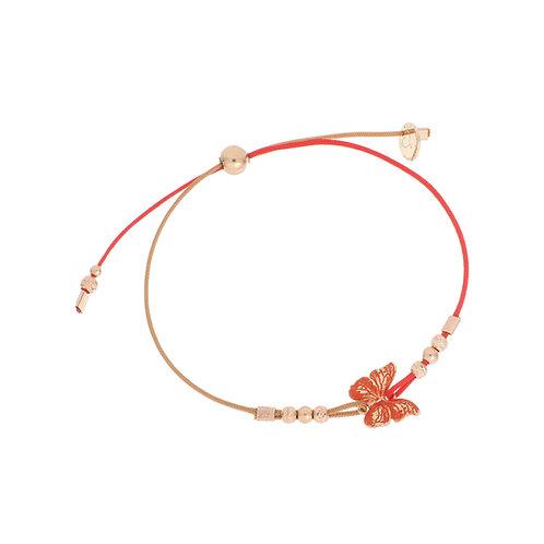 MAMAN ET SOPHIE FARFALLE. Bracciale Filo Mix con Farfalla Arancione